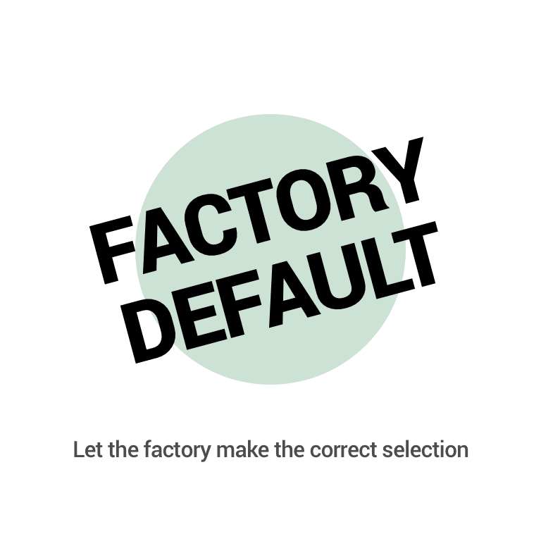 Factory Default