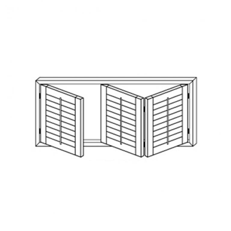 3 Panels - 1 Left, 2 Right