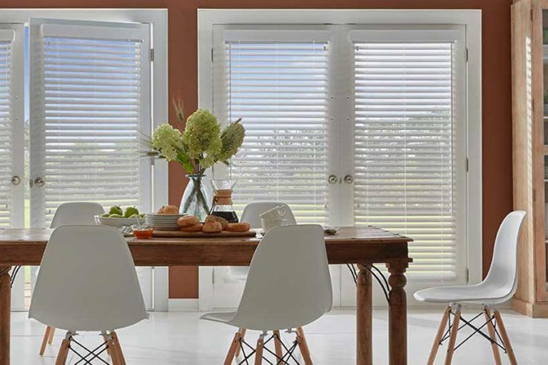 Designer Cordless Faux Wood Blinds