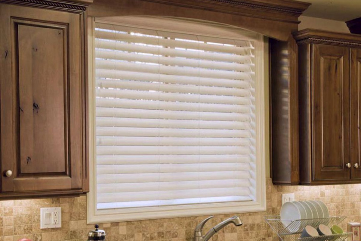 "2 1/2"" Premium Privacy No Holes Faux Wood Blinds"