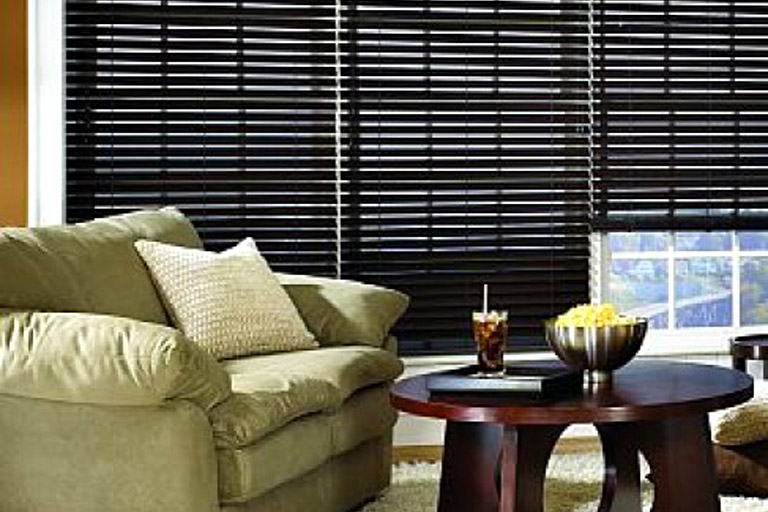 "2 1/2"" Premium Stained Privacy No Holes Faux Wood Blinds"