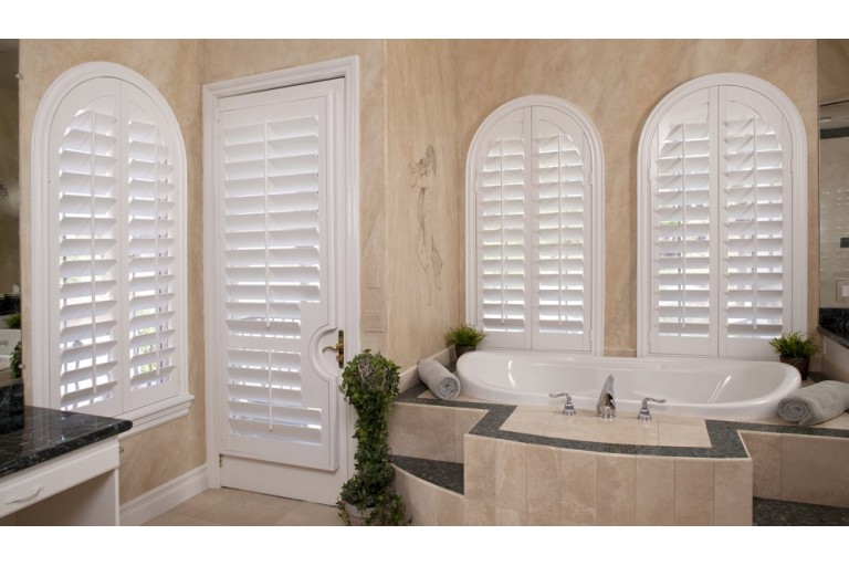 Premium Louvered Arched Poly Shutter
