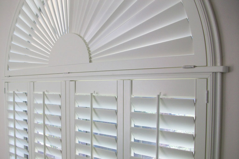 Arched Sunburst Poly Shutters From Direct Buy Blinds