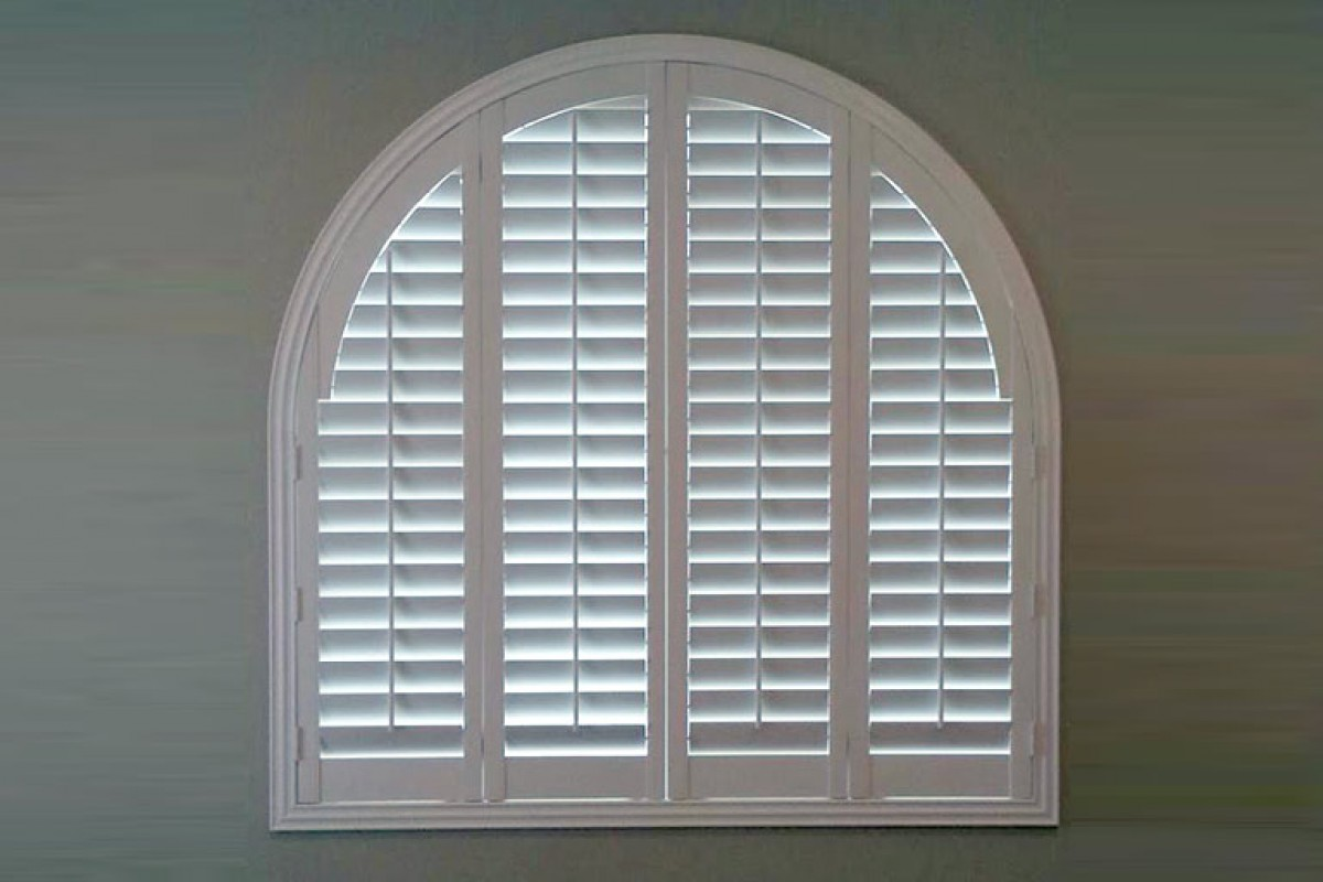 Louvered Arched Poly Shutters From Direct Buy Blinds