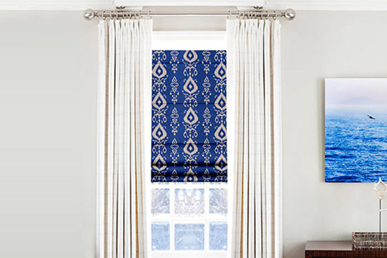 Designer Prints and Floral Roman Shades
