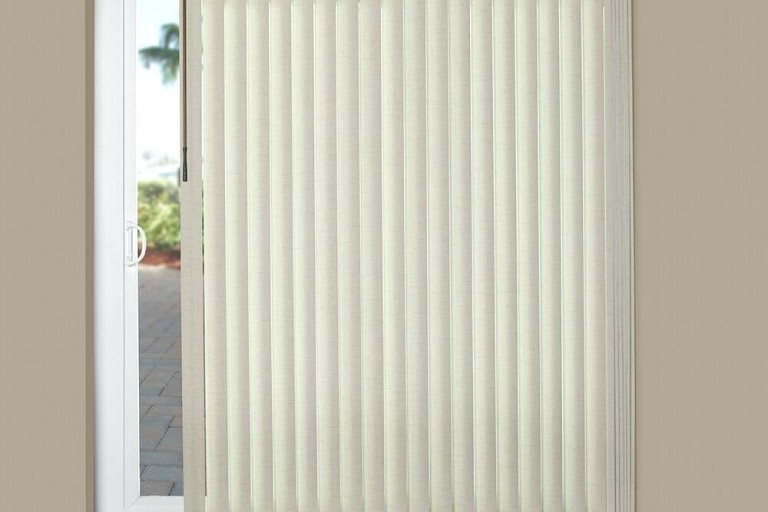 Textured Faux Wood Classic Vertical Blind