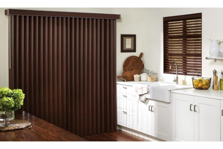 Smooth Grain Faux Wood Classic Vertical Blind