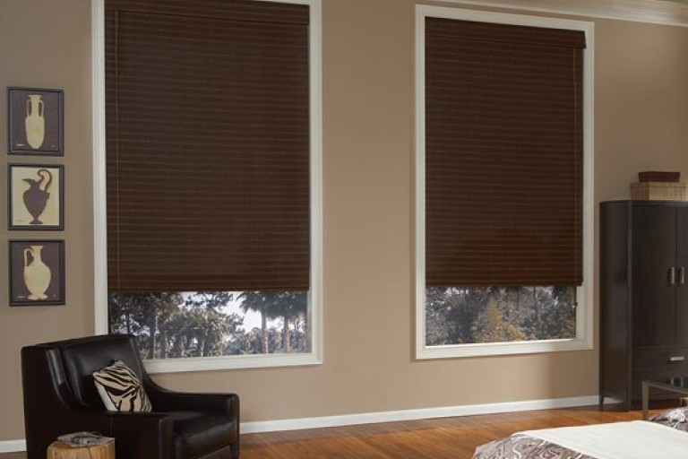 "2"" Cordless Premium Privacy No Holes Wood Blinds"