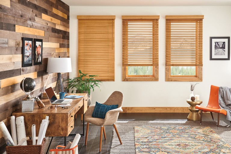 "2"" Premium Privacy No Holes Wood Blinds"