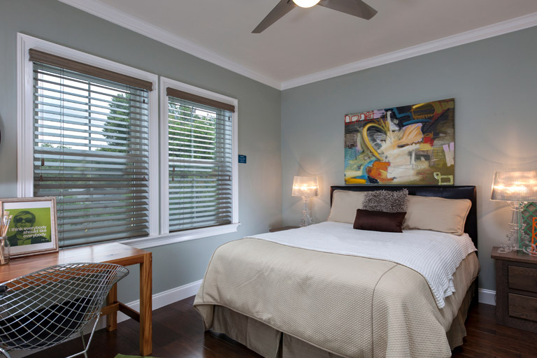 """2 1/2"""" Premium Privacy No Holes Wood Blinds"""