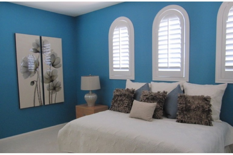 Premium Louvered Arched Wood Shutter