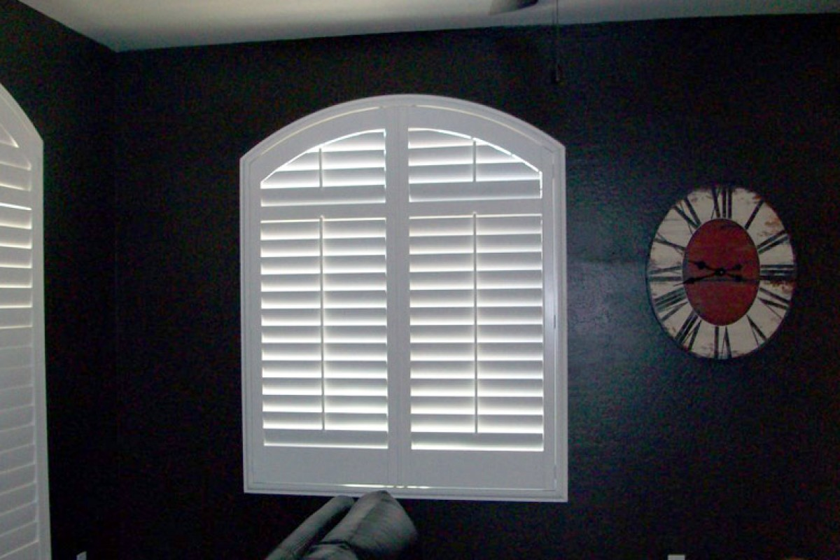 Louvered Arched Wood Shutters From Direct Buy Blinds
