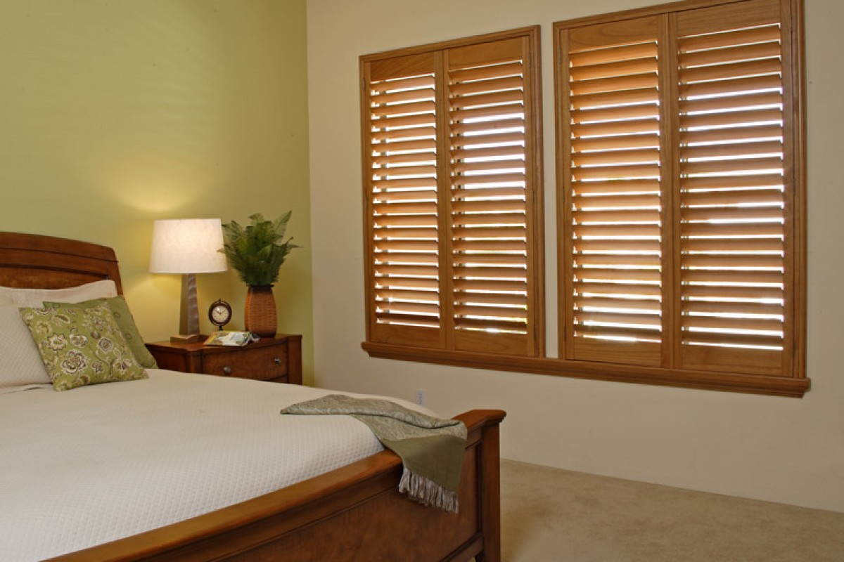 Premium Stained Wood Shutter